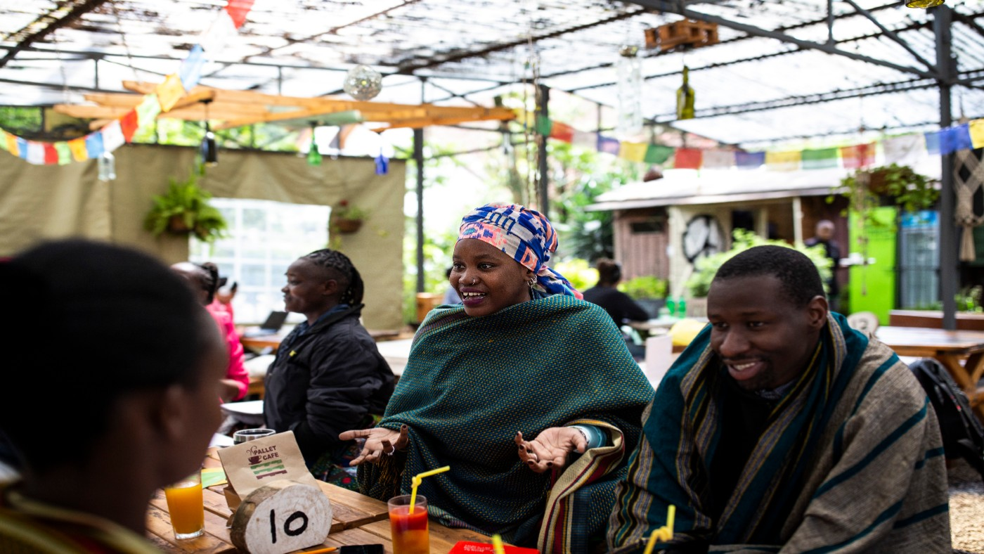 People at a session as part of Inclusive Futures research in Kenya.