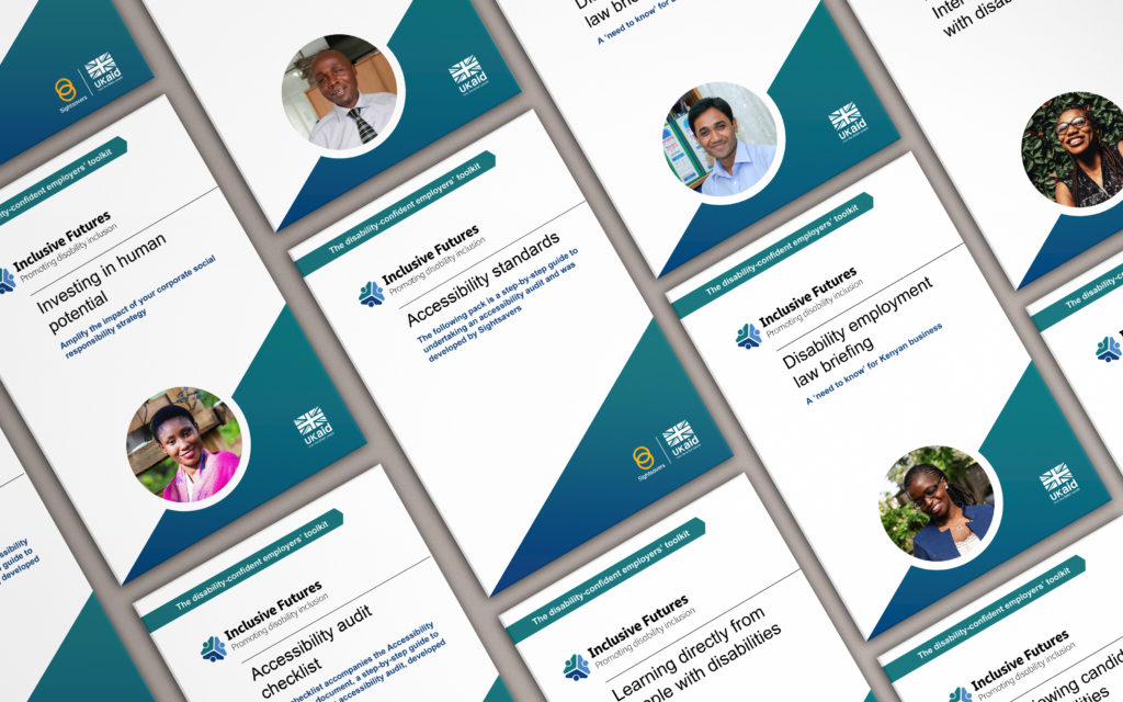 Front covers of the employers' toolkit.